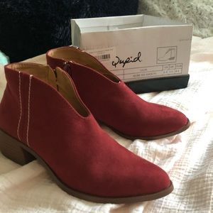 Red booties size 5.5